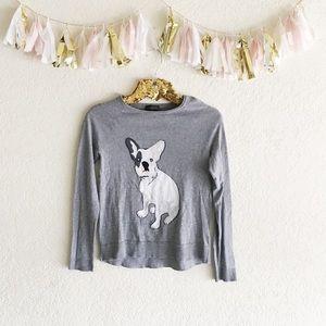 The Limited Intarsia Bulldog Sweater